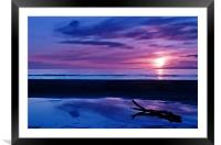 Sunset At Troon Beach, Framed Mounted Print