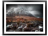 The Mood Of Winter, Scotland, Framed Mounted Print