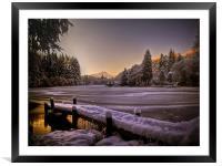 Loch Ard, Winter Sunset, Framed Mounted Print