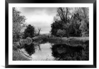 Chinese Bridge at Wrest Park, Framed Mounted Print