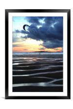 Kitesurfer at Dawn, Framed Mounted Print