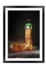 Big Ben Blur, Framed Mounted Print