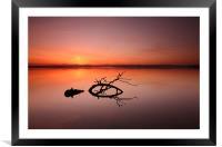 Loch Leven Sunset, Framed Mounted Print