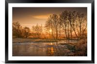 Herefordshire Sunrise, Framed Mounted Print