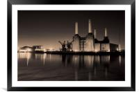 battersea Power Station Toned, Framed Mounted Print