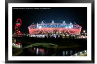 Olympic Stadium by night, Framed Mounted Print
