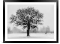 Walking in a winter Wonderland, Framed Mounted Print