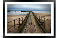 Wooden Pier at Blyth Northumberland, Framed Mounted Print