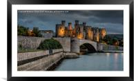 Conwy Castle by Lamplight, Framed Mounted Print