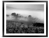 Peveril Castle, Framed Mounted Print