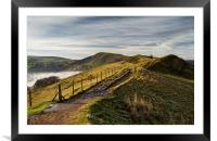 Misty Morning on the Great Ridge , Framed Mounted Print