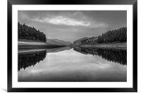 Howden Reservoir in Mono, Framed Mounted Print