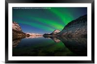 Reflections of Aurora, Framed Mounted Print
