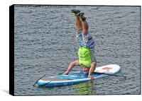 Paddle board instructor showing off, Box Print
