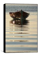 Small Boat Reflecting At Moorings