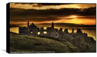 Sunset over Dunluce Castle, Box Print