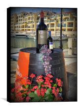 Wine and Grapes, Box Print