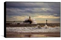 Storm at the harbour mouth, Box Print