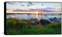 Sunset at the Staithe, Box Print