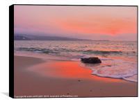 TOWANS BEACH HAYLE AFTER SUNSET, Box Print