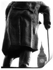 Churchill & Big Ben, Print