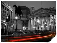 Bank of England & Royal Exchange, London, Print