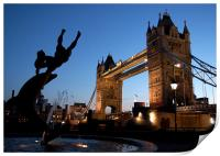 Tower Bridge, London. Sunset, Print