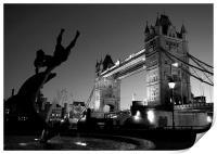 Tower Bridge Black & White (3), Print