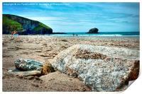 Portreath Beach, Cornwall, Print