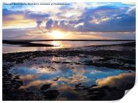 Sea Sunrise Reflection, Print