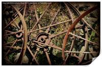Rusty Cart Rims., Print