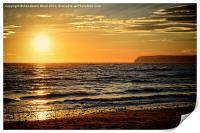 Sea Sunset, Print