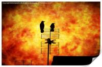Two Crow Fire, Print