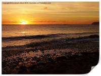 Sunset on the Beach, Print
