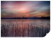 Sunset over Lake of Menteith, Print
