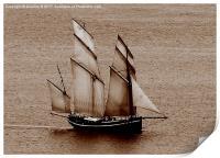 Cornwall Schooner, Print