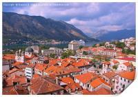 Kotor Montenegro, Print