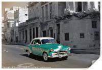 Classic Green Car, Print