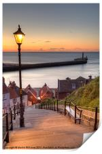 Whitby Steps - Orange Glow, Print