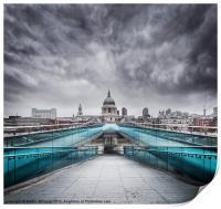 Millenium Bridge, London, Print