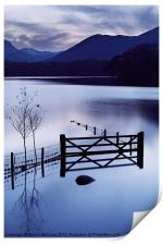 Evening at Derwent Water, Print