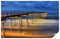 Saltburn Pier, Yorkshire, Print