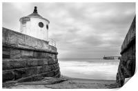 Whitby Sea Defences, North Yorkshire, Print