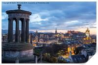 Edinburgh from Calton Hill, Print