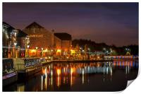 Waterfront Reflections, Print