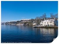 White and blue by Loch Portree, Isle of Skye,, Print