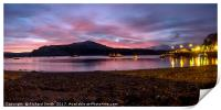 Loch Portree in early morning before sunrise at 07, Print