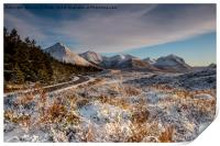 The red cuillin in winter, Print