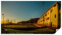 The all weather pitches at Portree High School., Print