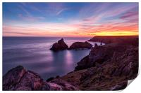 Sunset over Kynance Cove, Print